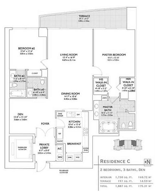Jade at Brickell Condo Floor Plans